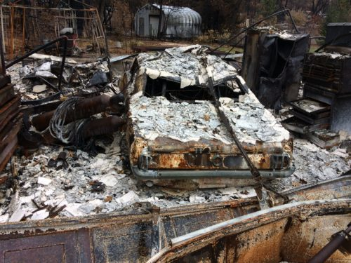 PARADISE FIRE VICTIM CAR